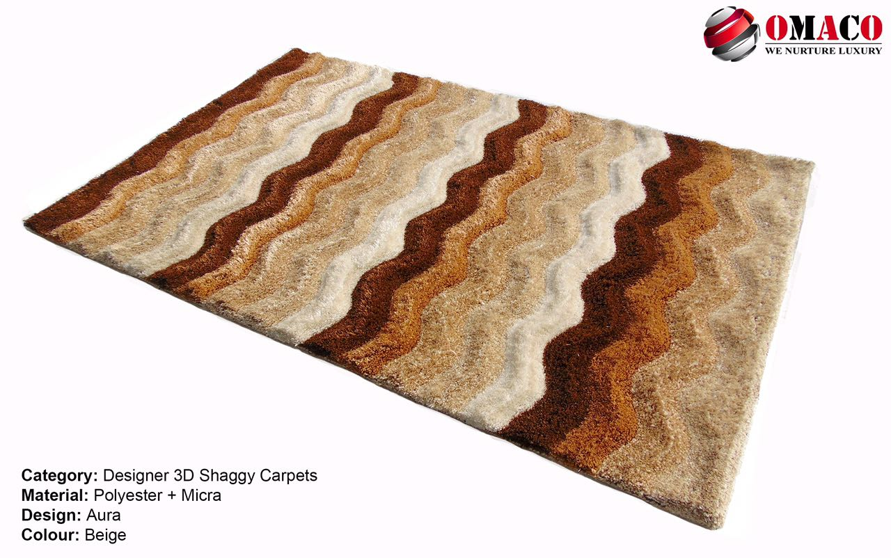 3D shaggy carpet pics wid antiskid backing r below.  Sizes are: 5x3, 6x4 and 7x5.